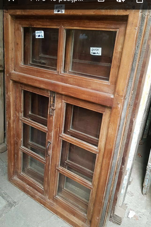Antique wooden window