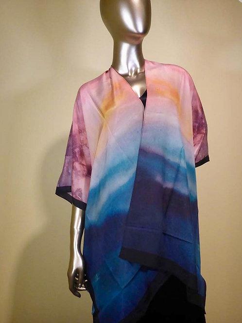 Silk Kimono - Evening Blush