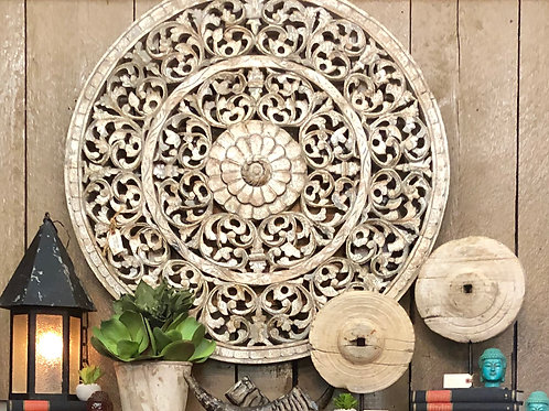 Round Carved Wall Decor
