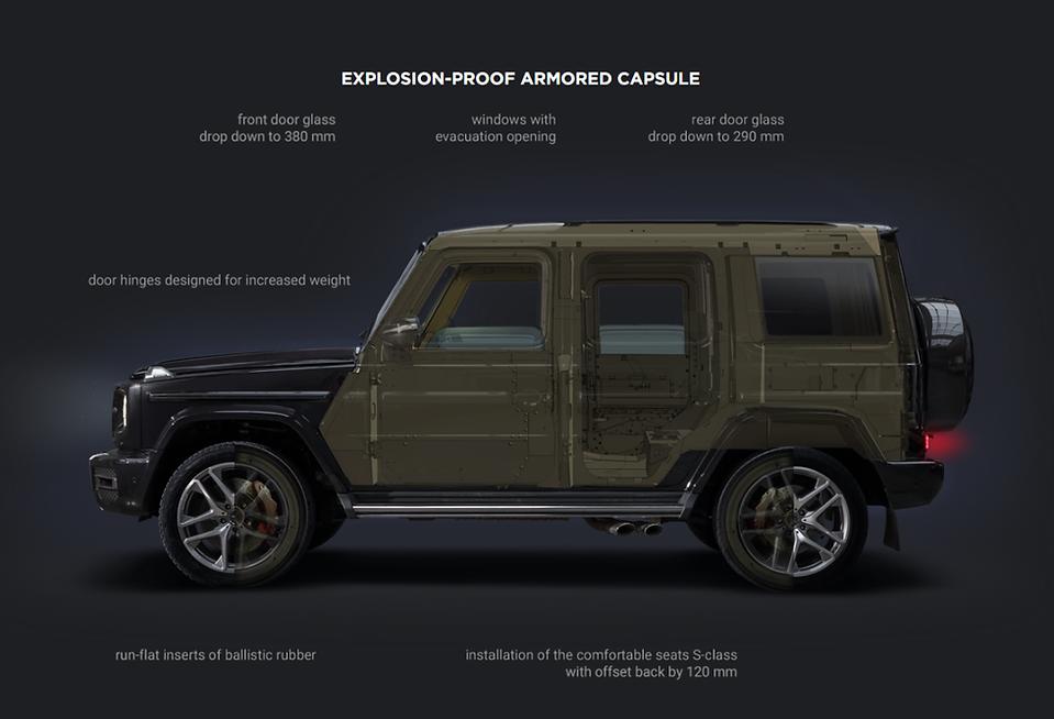 Armoured Mercedes G SUV Bulletproof base