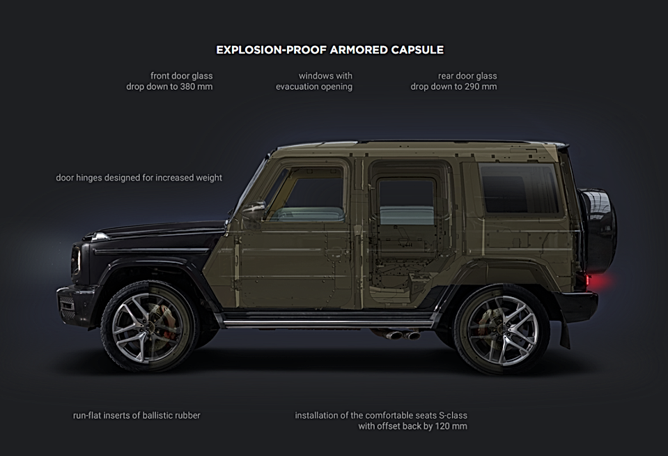 Armoured Mercedes G SUV Bulletproof base
