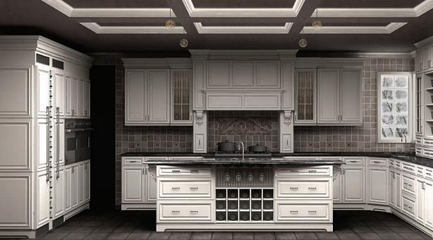 wow-cabinet-kitchen | Maple Crystal White Miter
