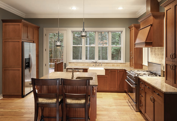 Best Affordable Solid Wood Kitchen Cabinets In New Jersey   Wow Cabine |  Cherry Cinnamon Shaker