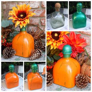 Easy DIY Glass Pumpkin Bottle