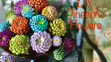 DIY Pinecone Flowers