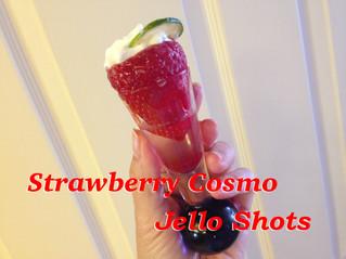 Strawberry Cosmo Jello Shots!