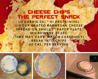 35 SEC. SUPER SKINNY CHEESE CHIPS!