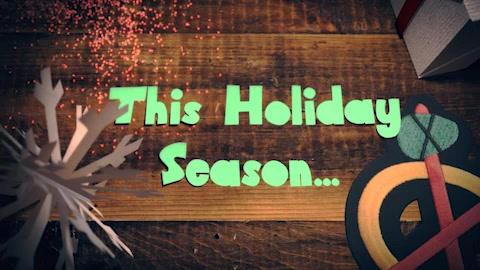 Blackhawks Holiday Card