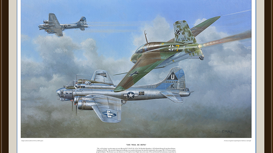 'Thy will be done' - B17 v ME163 Limited Edition Art Print.