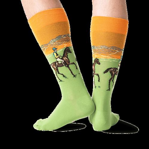 HOTSOX -Men's Race Horse Crew Socks