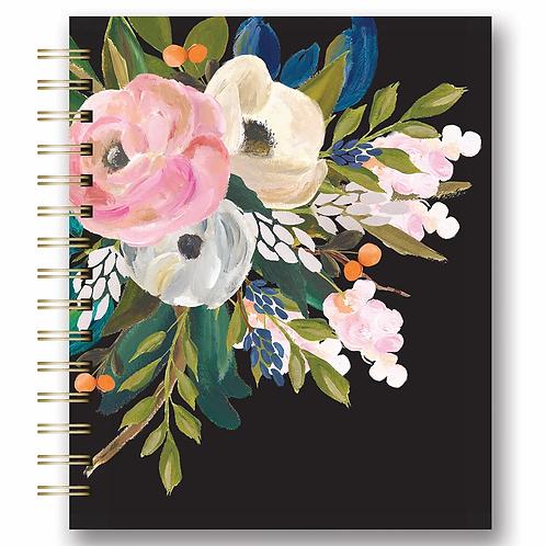 Bella Flora Medium Tabbed Spiral Notebook