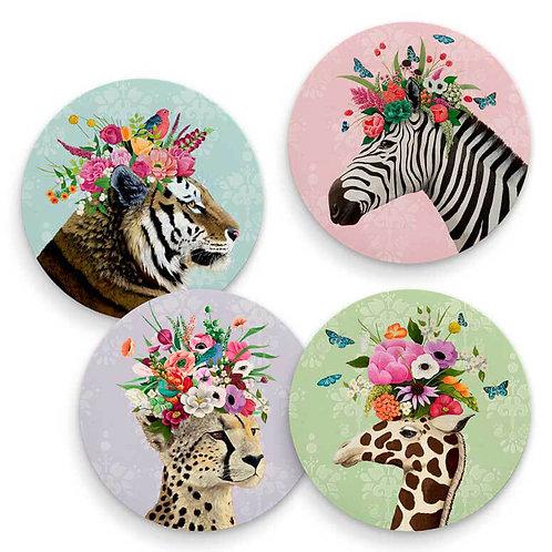 Haute Jungle - Set of 4 Coasters