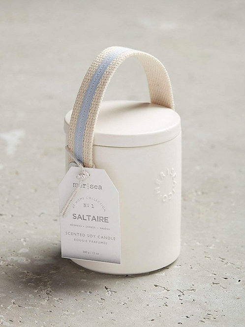 Mer Sea - Saltaire Stitched Handle Candle