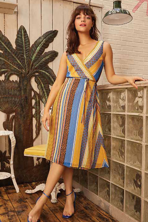 Forest Lily - Striped Dress