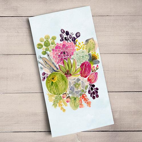 Succulent Bouquet Tea Towels
