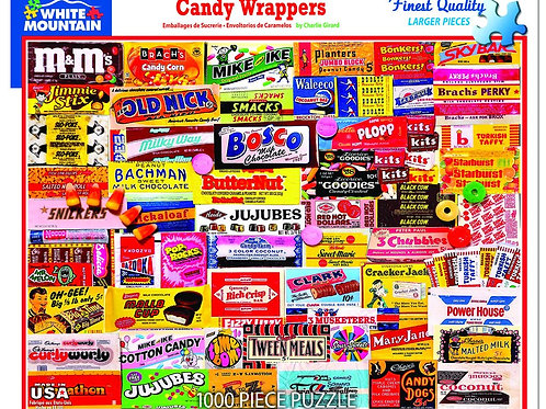 Candy Wrapper Puzzle - 1000 Piece Jigsaw Puzzle