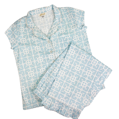 Jayes Studio - Garden Gate Sateen Capri Pajama Set