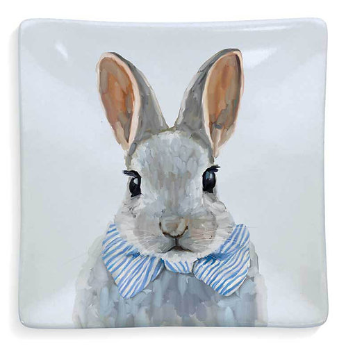 Baby Bunny With Bow Tie Serveware Decorative Dish