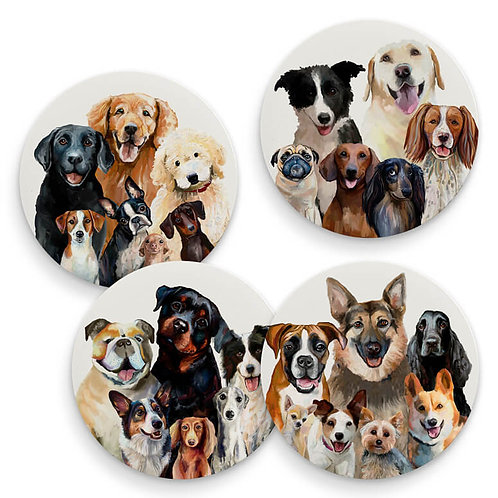 Best Friend - Dog Bunch - Set of 4 Coasters