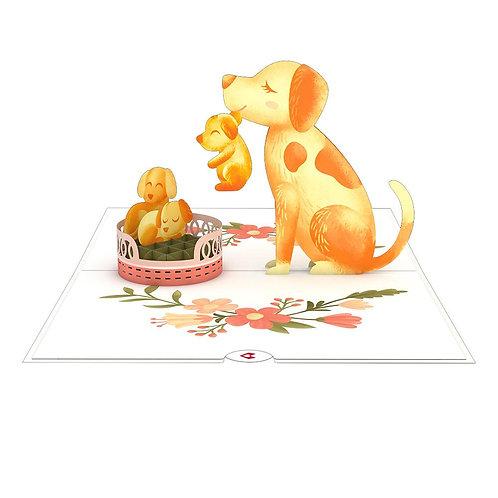 Love Pop - Dog Family Card