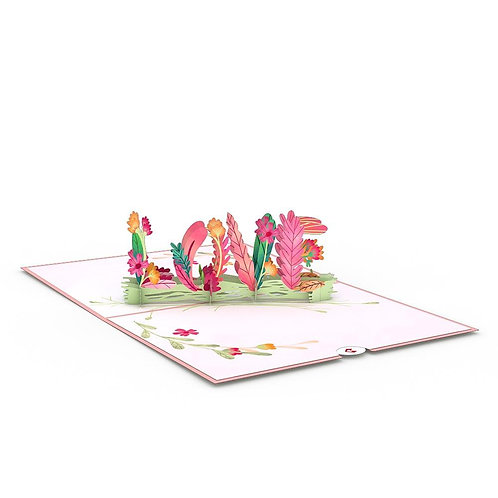 Love Pop - Floral Love Card