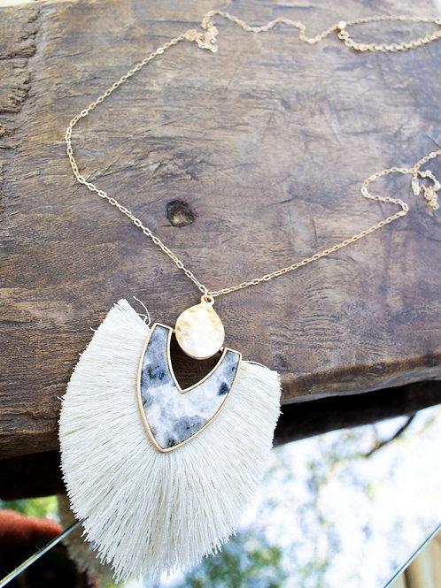 Long Gold Pendant Necklace