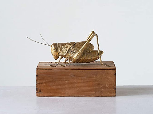 Gold Resin Cricket Figurine