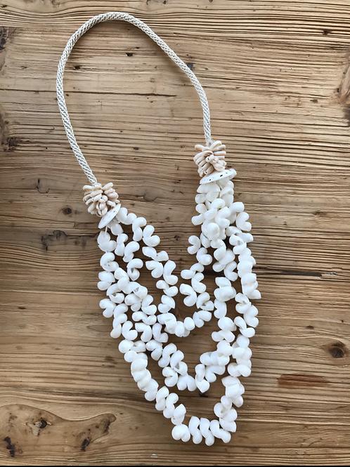 Balinese white decoration necklace