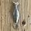 מחזיק מפתחות בצורת דג בגודל גודל