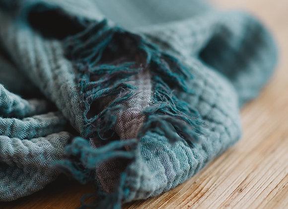 שמיכה כחולה דגם גן החלומות