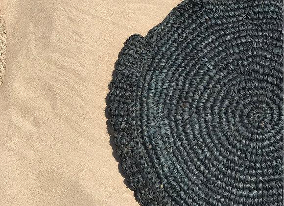 תיק קש אינדונזיה בצבע שחור