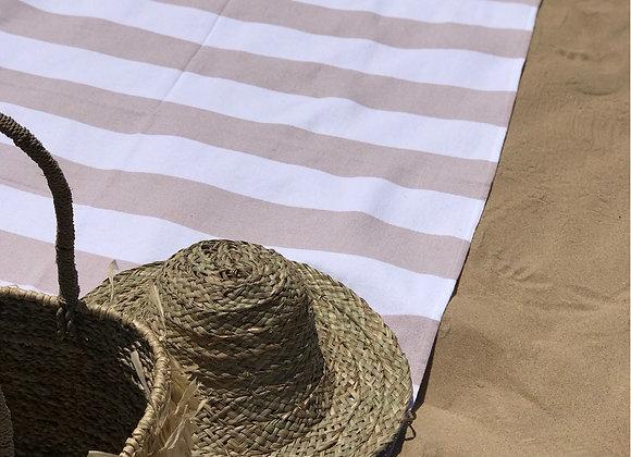 מגבת חוף טורקית Mediterranean Sand Terry