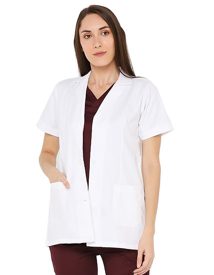 Women's Doctor Apron Coat Half Sleeves