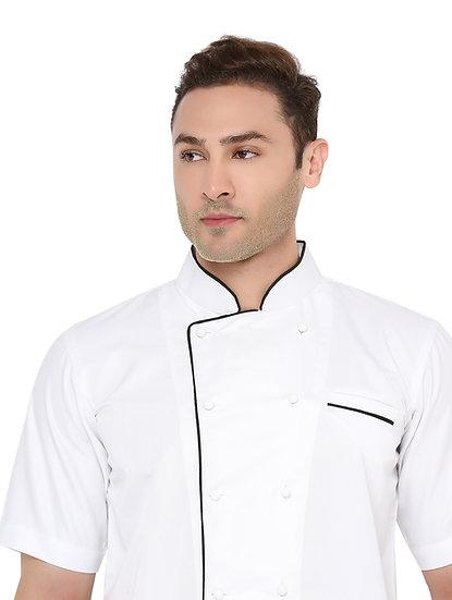 White Half Sleeves Chef Coat