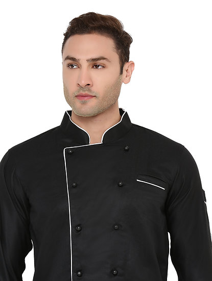 Black Full Sleeves Chef Coat