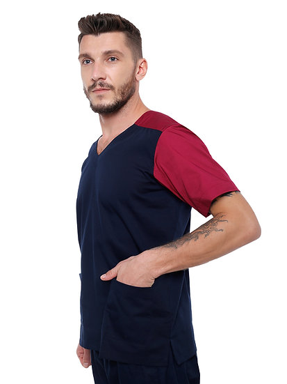Dual Tone Scrub Suit in Premium Cotton Rich Fabric