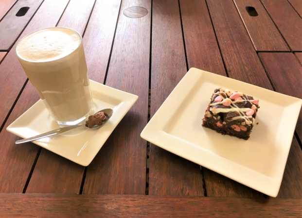 Mullewa Inspirations coffee and a slice