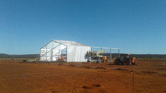 packing shed being built