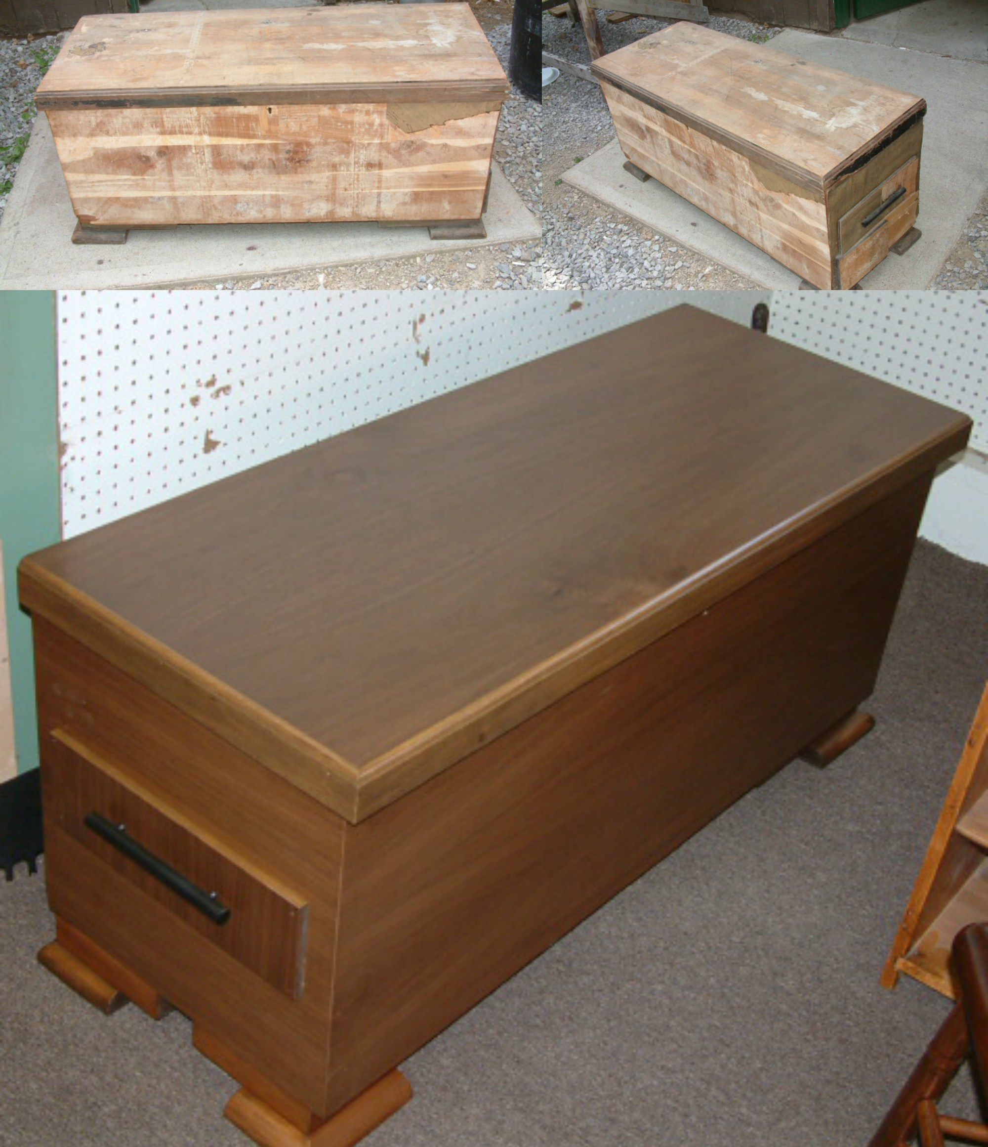 Damaged Cedar Chest