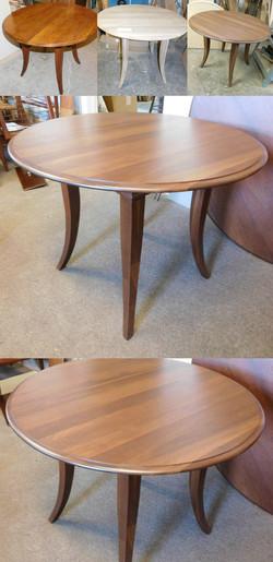 Round Walnut Table
