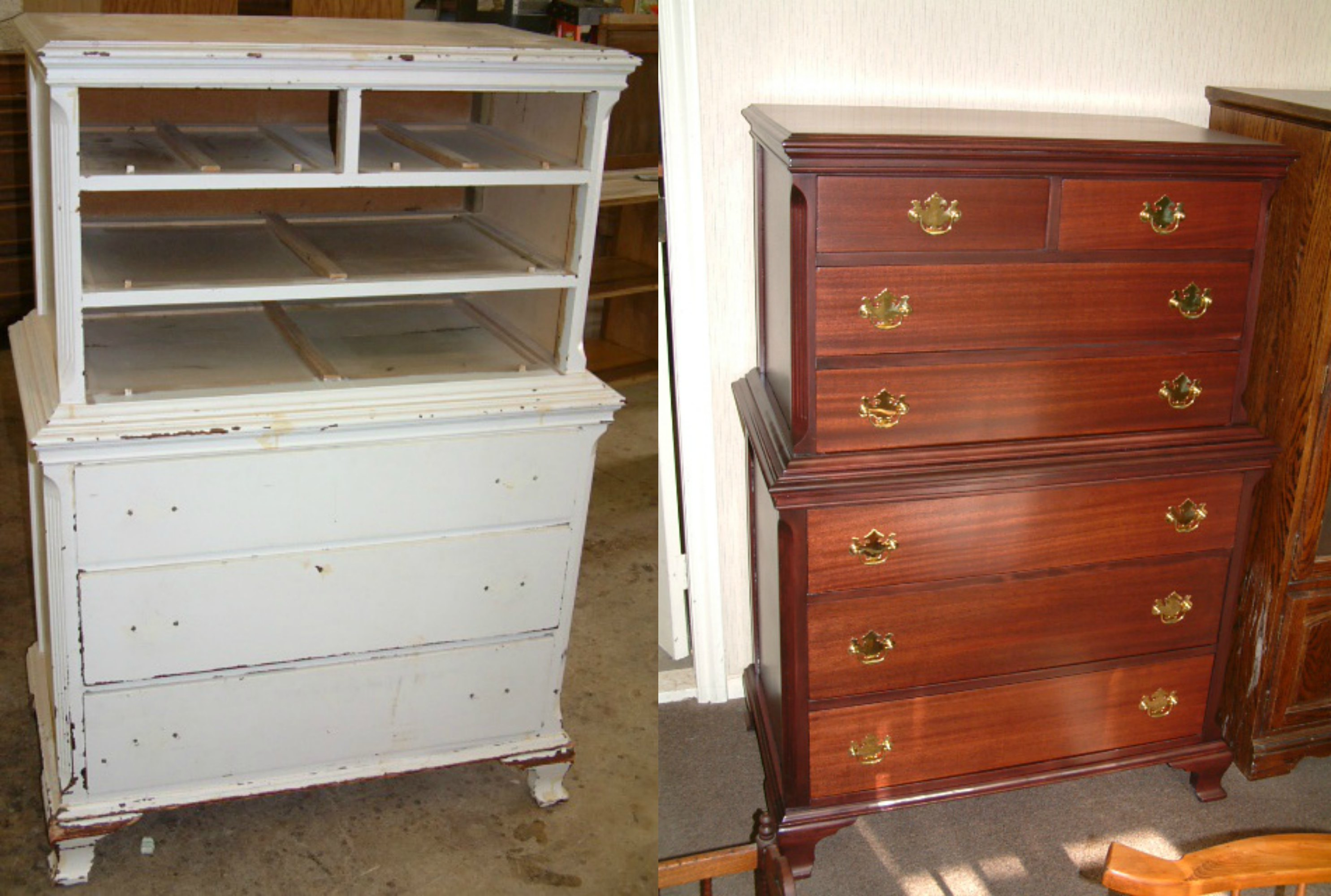 Painted Mahogany Dresser