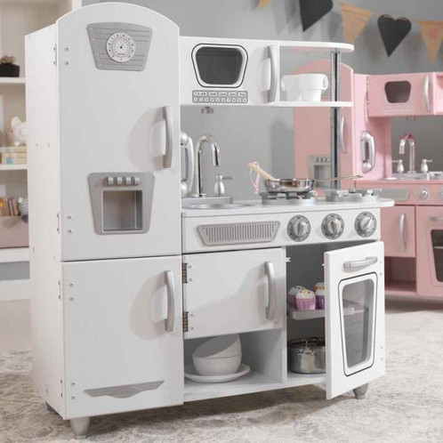 Our Vintage Kitchen In White Lets Kids Pretend They Are Cooking Big Feasts  For The Whole Family. With Its Close Attention To Detail And Interactive  Features ...