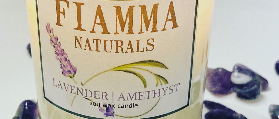 Lavender | Amethyst Soy Candle