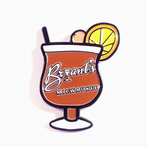 Bryant's Old Fashioned Enamel Pin