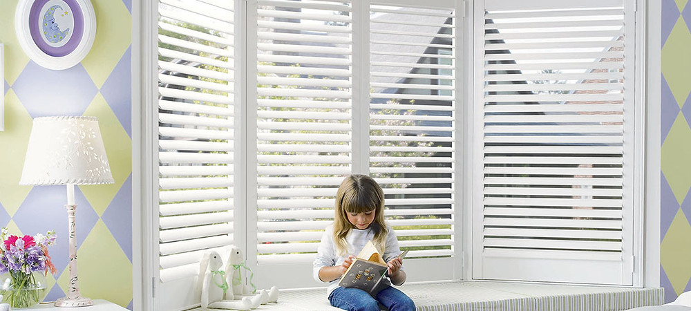 Hunter Douglas Child Safe Noise Reducing Blinds for Naptime for babies and toddlers from Piazza Designs in San Carlos
