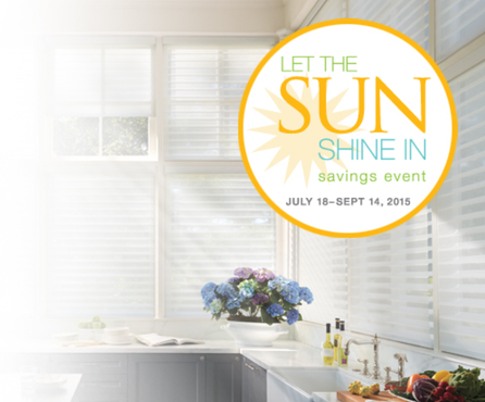 Let The Sun Shine In savings event