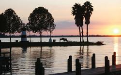 Sunset on beautiful Lake Dora