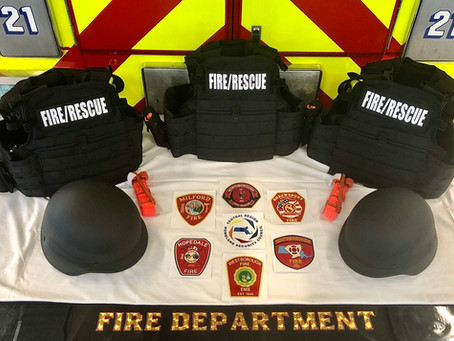 LOCAL FIRE DEPARTMENTS RECEIVE ACTIVE SHOOTER RESPONSE GEAR