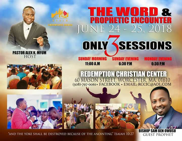 The Word & Prophetic Encounter: Free Admission