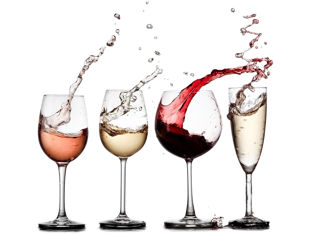 Rosé and White wine can be used in the same glasses at your discretion.